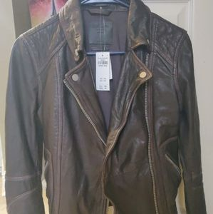 Abercrombie and fitch genuine leather jacket